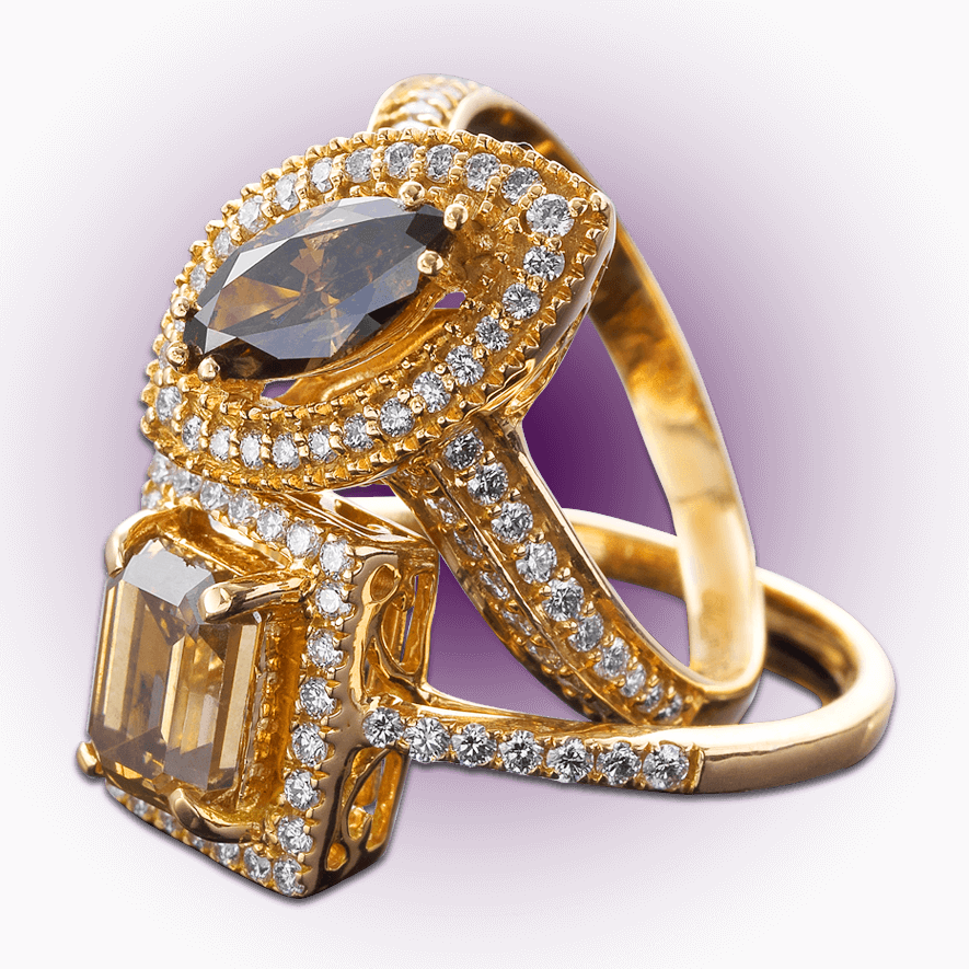 Champagne Brown Diamond Ring