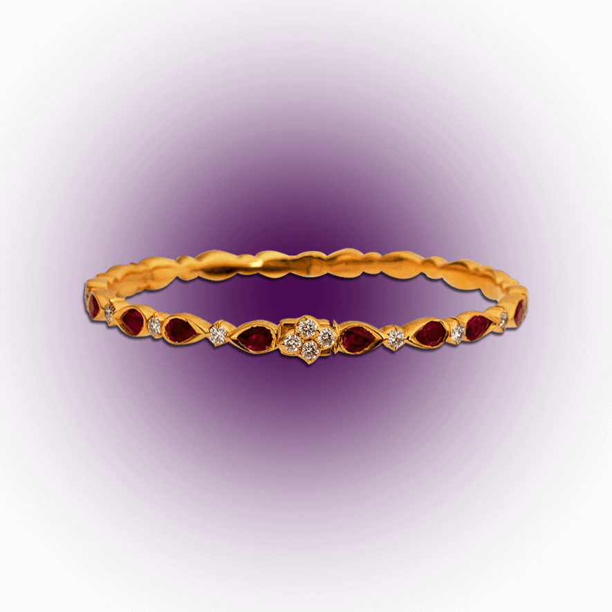 Diamond and Ruby Bangle