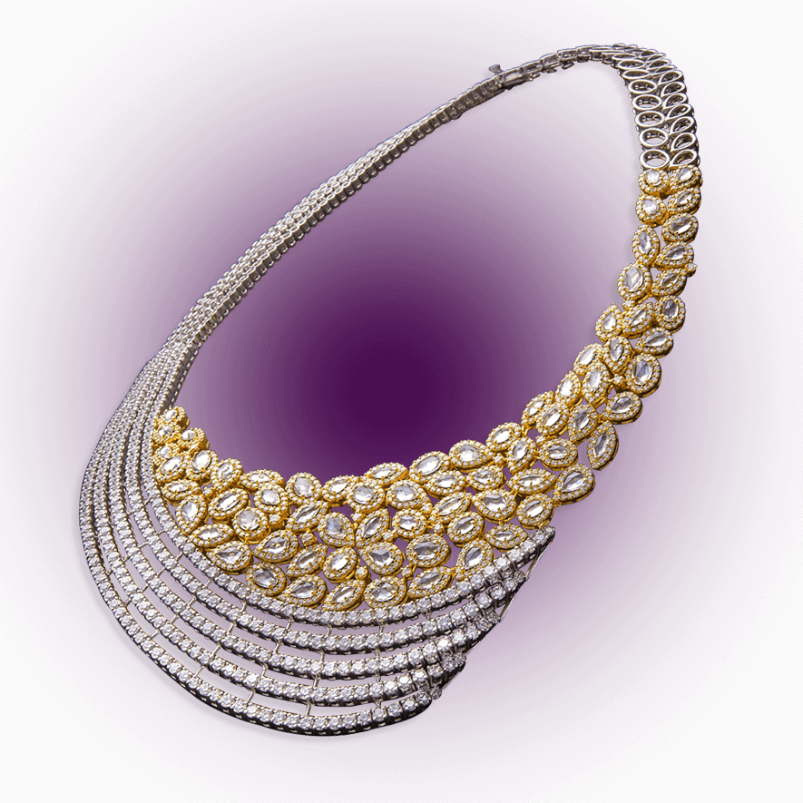 Elegant Diamond Studded Necklace