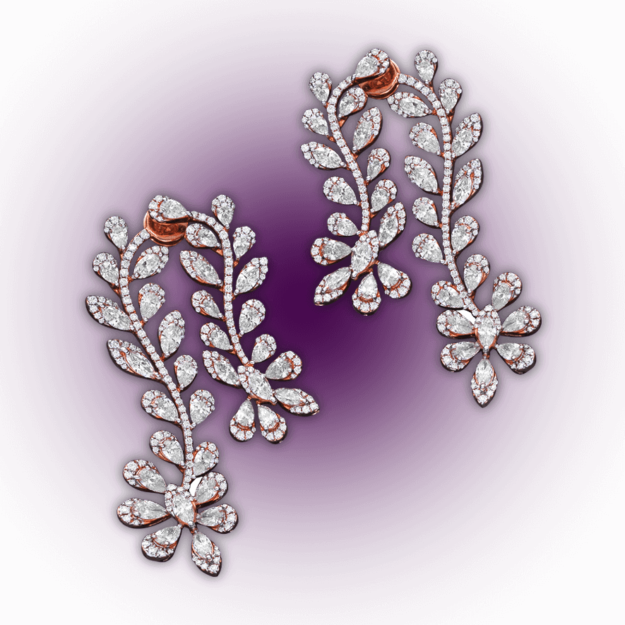 Floral Dream Diamond Earrings