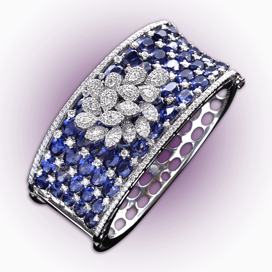 Tanzanite Diamond Bracelet